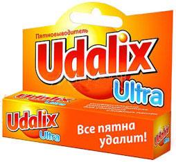 Универсальный пятновыводитель Udalix (Удаликс) предназначен для выведения пятен самого различного происхождения: кофе, чая, жира, масла, крови, травы, воска, клея, чернил, кетчупа и многих других.